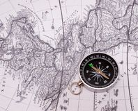 Compass on a card Stock Images