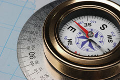 Compass and card Royalty Free Stock Photo