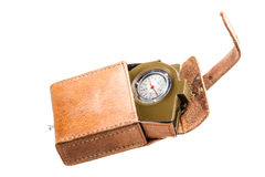 Compass with case Royalty Free Stock Photos