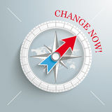 Compass Change Now Stock Photography