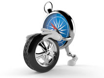 Compass character rolling spare wheel Stock Images