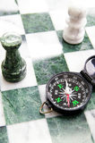 Compass chess Stock Image