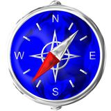 Compass in chrome. Computer generated image Stock Photography