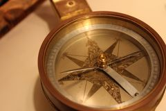 Compass. Close up of a compass royalty free stock photography