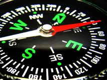 Compass closeup. Image of compass showing direction closeup Royalty Free Stock Photography
