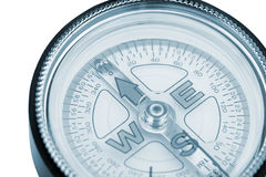Compass closeup blue toned Stock Image
