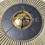 Compass of the colonial city of Santo Domingo Royalty Free Stock Images