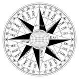 Compass compassrose marine navigation  background eps. Compass rose on  background vector Royalty Free Stock Images