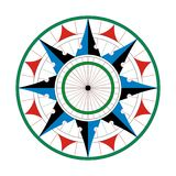 Compass compassrose marine navigation  background eps Royalty Free Stock Images