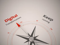 Compass. Conceptual 3D render image with a frameless Compass focus on single word Royalty Free Stock Image