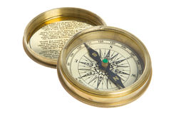 Compass and cover Stock Photography