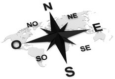 The compass Stock Image