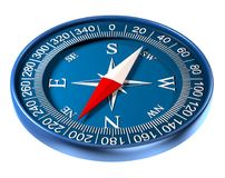 Compass 3D illustration. Isolated on white Royalty Free Stock Images