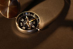 Compass On Dark Stock Photos