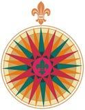 compass de fleur lis αναδρομικό διάνυσμα Στοκ φωτογραφία με δικαίωμα ελεύθερης χρήσης