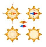 Compass with demountable arrow vector illustration
