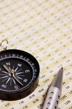 Compass and diagram Stock Images