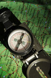 Compass Direction. Compass being used to determine direction Stock Photo