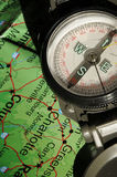 Compass Direction. Compass being used to determine direction Stock Photos