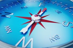 Compass Direction, Blue Tint Background, 3d rendering. Compass Direction, Blue Tint Background. 3d rendering Stock Photos