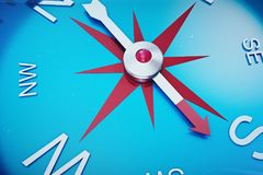 Compass Direction, Blue Tint Background, 3d rendering. Compass Direction, Blue Tint Background. 3d rendering Royalty Free Stock Photo