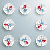 Compass Directions Set Stock Photo