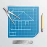 Compass Divider Engineering Planning Symbol Icon blueprint Background Design Illustration Stock Photography