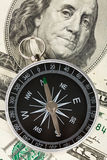 Compass and dollar Royalty Free Stock Image