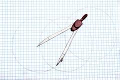 Compass drawing circles Royalty Free Stock Images