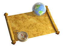Compass and Earth Stock Photos