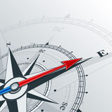 Compass east. Compass with wind rose, the arrow points to the east. Illustrations can be used as background Stock Images
