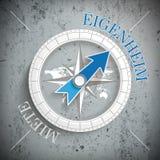Compass Eigenheim Miete Concrete Stock Photos