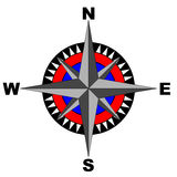 Compass (eps file included) Royalty Free Stock Photo