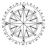Compass face Stock Photography