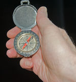 Compass; finding a new direction. Stock Photo