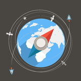 Compass flat design Royalty Free Stock Photo