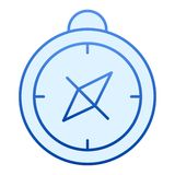 Compass flat icon. Cartography blue icons in trendy flat style. Navigation gradient style design, designed for web and. App. Eps 10 vector illustration