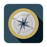 Compass flat icon stock illustration