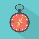 Compass flat icon stock vector Royalty Free Stock Photography