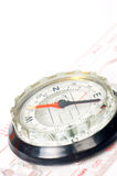 Compass with focus on the north Stock Photos