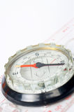 Compass with focus on the south Royalty Free Stock Photo