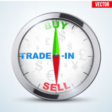 Compass for forex trader Royalty Free Stock Image