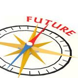 Compass with future word Royalty Free Stock Photo