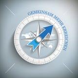 Compass Gemeinsam mehr erreichen Stock Photo