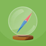 Compass Glass Round Object Navigator Vector Stock Photo