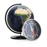 Compass and globe Royalty Free Stock Images
