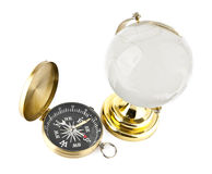 Compass and the globe Stock Photos