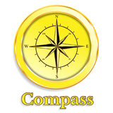 Compass gold Vector illustration Abstract background. Compass Vector illustration Abstract background icon Royalty Free Stock Photo