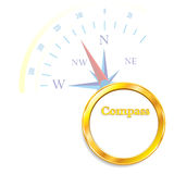 Compass gold Vector illustration Abstract background. Compass Vector illustration Abstract background icon Stock Photography