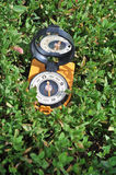 Compass in the grass. Stock Images